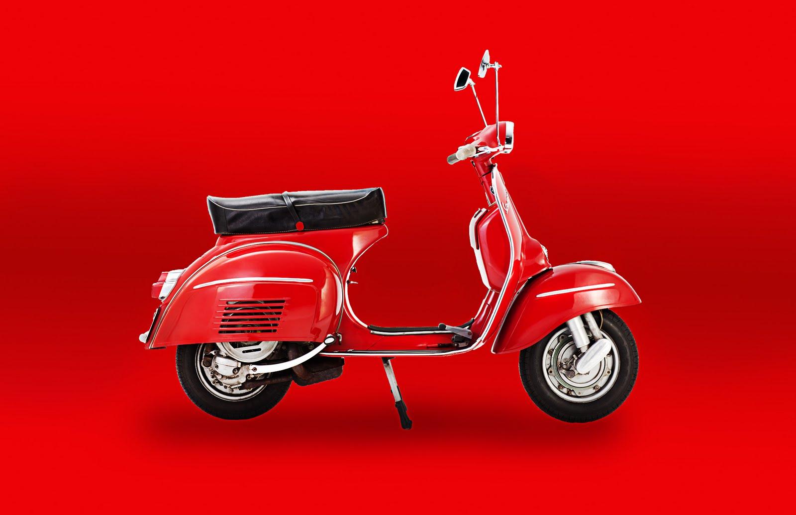 Red Vespa Red BG