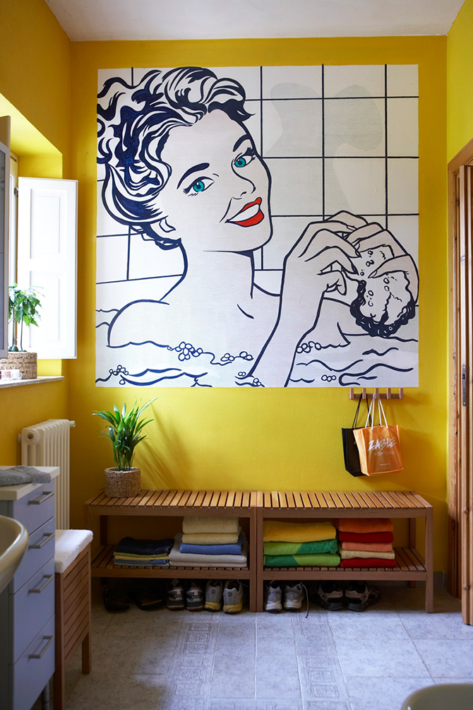 """""""colorful bathroom""""  12 Inspirational pop art to apply in your interiors  great ways to design your interiors with pop art style 81"""