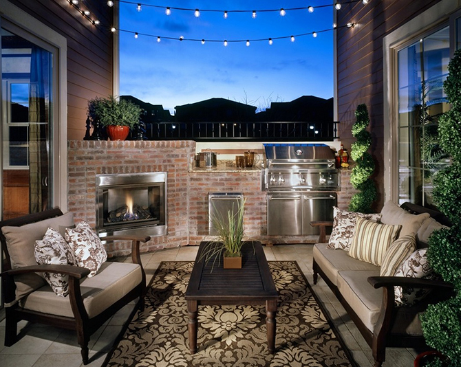 urban-loft-terrace-outdoors  10 ways to decorate a small appartment with industrial style  urban loft terrace outdoors