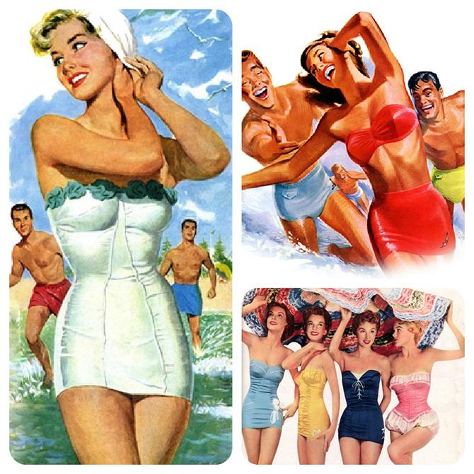 """""""vintage swimwear""""  vintage pop swimwear inspiration vintage pop swimwear 7"""