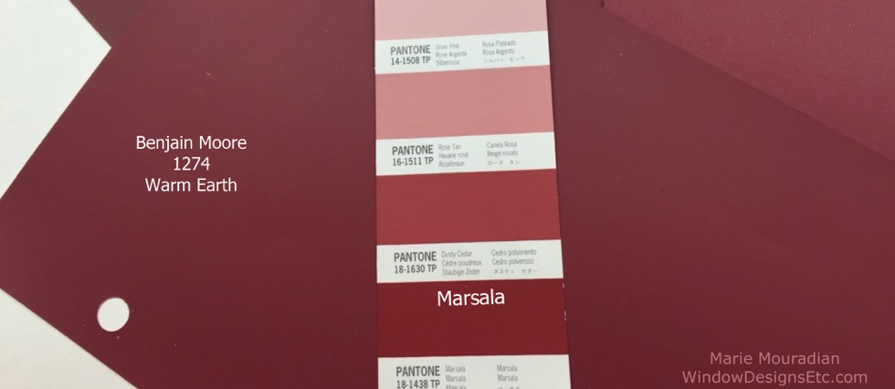 Living Room Lamps: Trends for 2015 Marsala paint colors