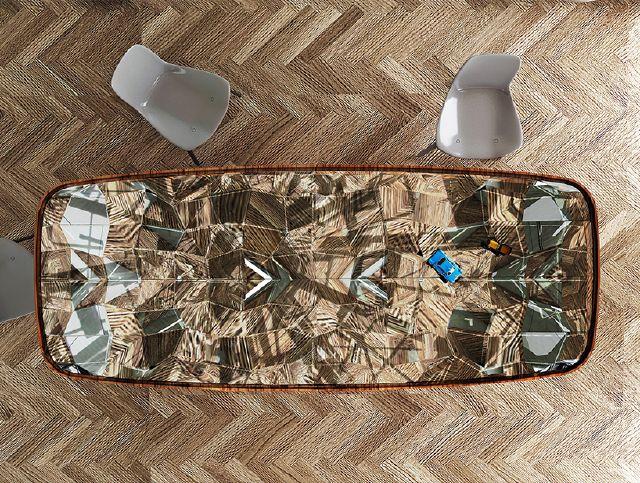 AAAA table  André teoman studio: amazing mirrored kaleidoscope table  AAAA
