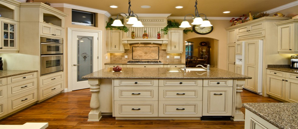 28 vintage kitchen design ideas eatwell101 retro for Antique look kitchen cabinets