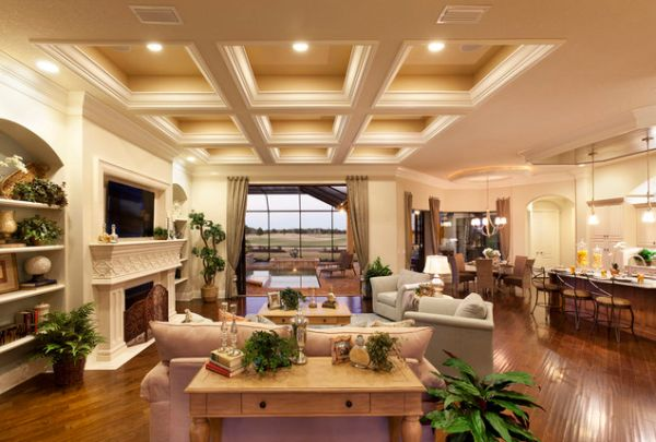 Vintage room ceiling ideas ceiling ideas  Vintage room ceiling ideas Elegant ceiling and warm lighting gives this living space an immaculate appearance
