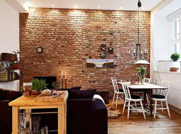 Using Rustic Brick Wall