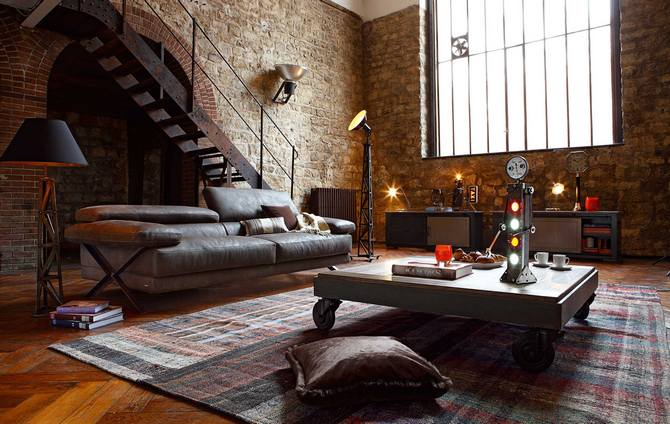 10 ways to a vintage industrial living room design