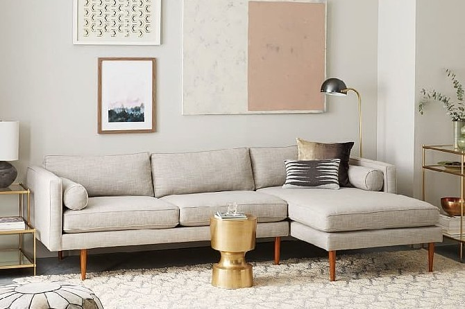 15 mid century modern living rooms mid century modern 15 Mid-Century Modern Living Room Design 15 mid century modern living room design Monroe Mid Century Sectional chaise long