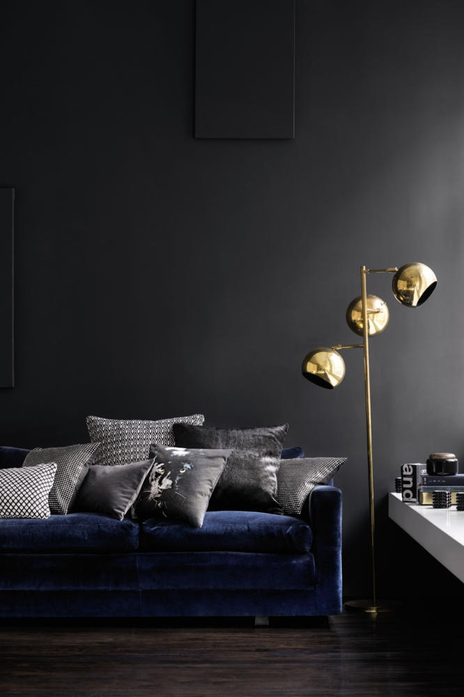 20 Mid-Century Modern Floor Lamps To Die For 20 Mid-Century Modern Floor Lamps To Die For Modern Floor Lamps 20 Mid-Century Modern Floor Lamps To Die For 19 grey with navy and brass