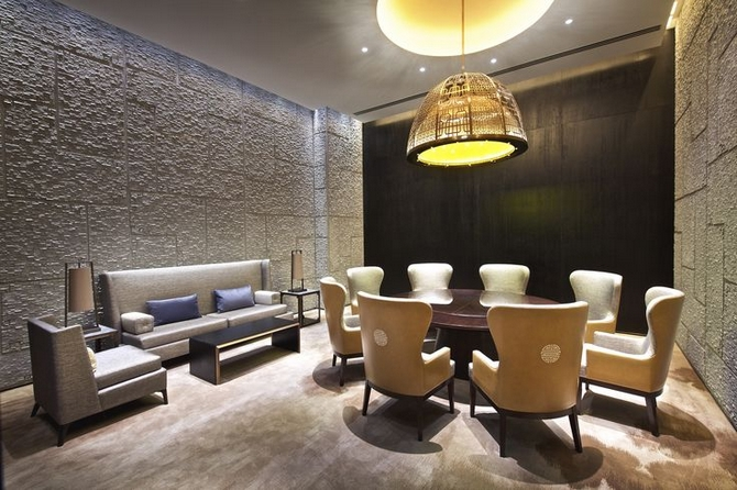 5 NUO Beijing Luxurious Mid Century Modern interiors by Hirsch Bedner Associates