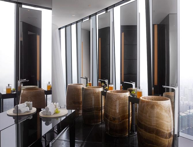 8 Four Seasons Hotel, Guangzhou Luxurious Mid Century Modern interiors by Hirsch Bedner Associates