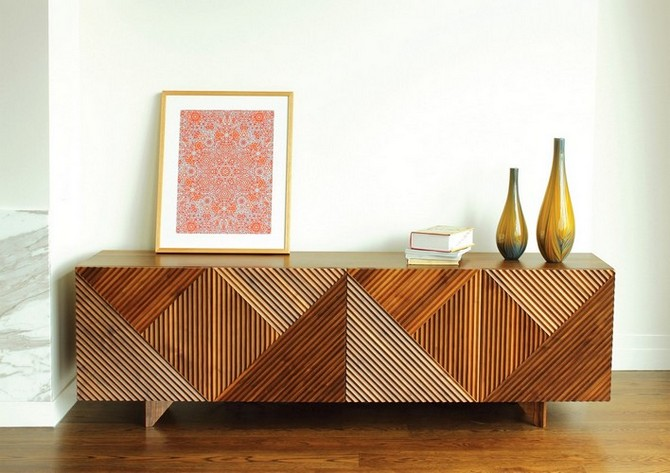 4 Mid century modern living rooms 15 wood and brass modern sideboards