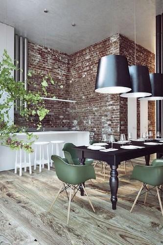 10 Green Dining Room Design Ideas: 10 Industrial Dining Room Design