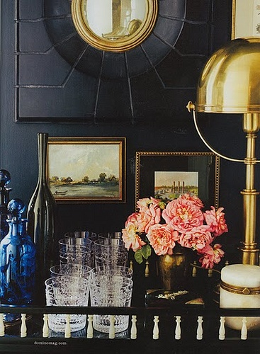 Add some brass details to your living room 15
