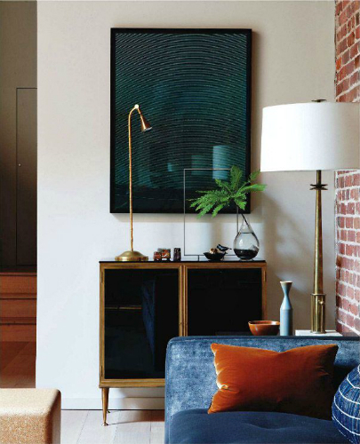 Add some brass details to your living room 2