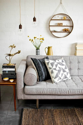 Add some brass details to your living room 5