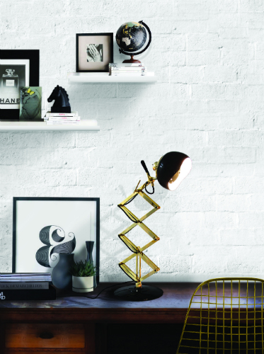 Add some brass details to your industrial living room 6