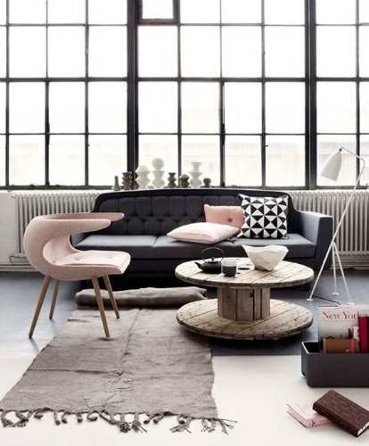 Learn how to get an industrial style using pastel colors 6