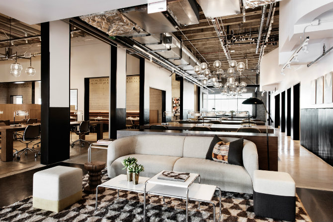 Check out this modern work space in LA with a vintage feeling work station Check out this modern work station in LA with a vintage feeling Valentines Decoration get your home a romantic mood 8