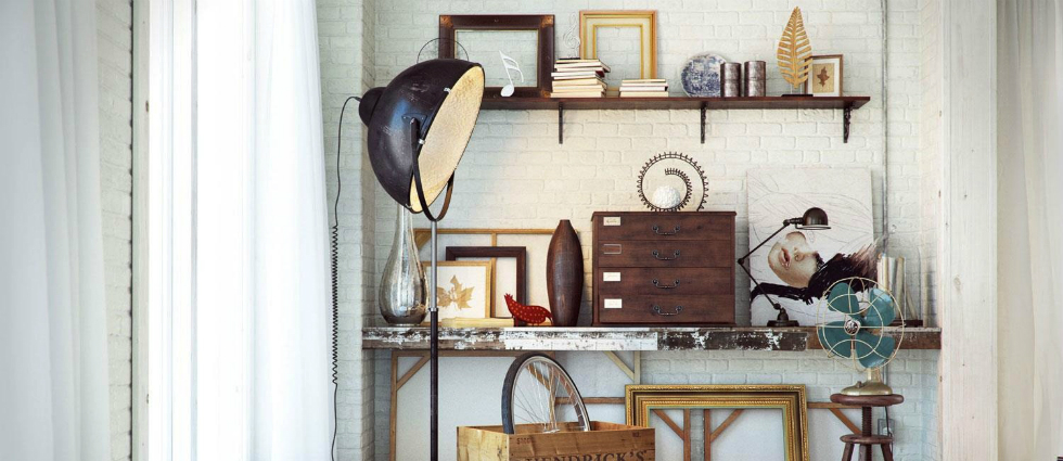 Learn how to get an industrial style home