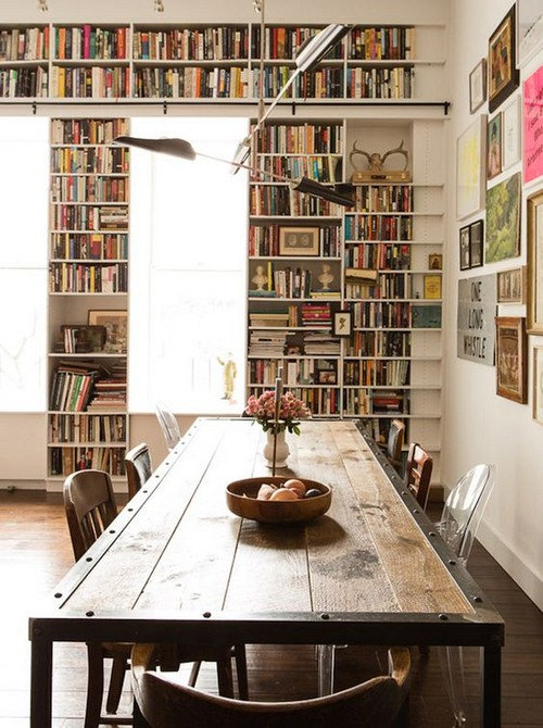 Get your own Vintage Industrial Home Library Design