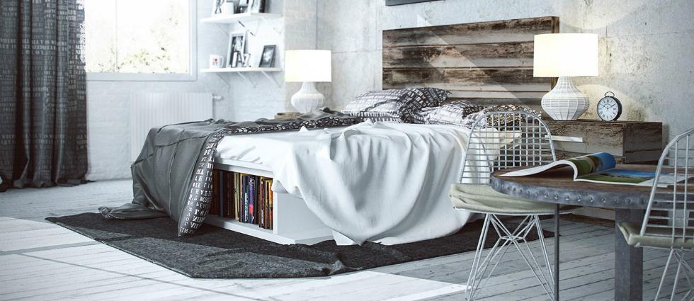 10 Industrial interiors bedroom ideas
