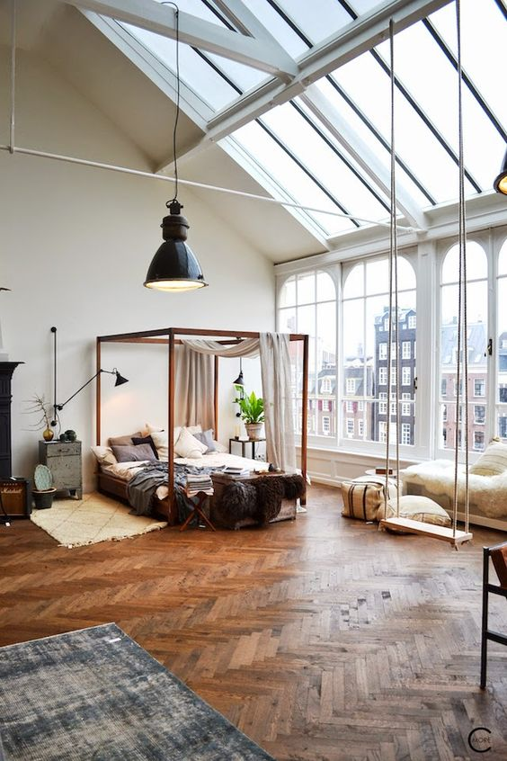 Outstanding vintage Industrial concepts for your bedroom