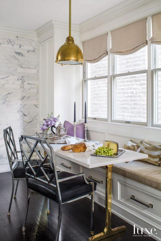 Modern Kitchen with a vintage lighting