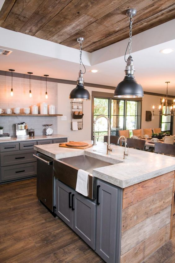 Industrial lighting: Lovely classic kitchen lighting