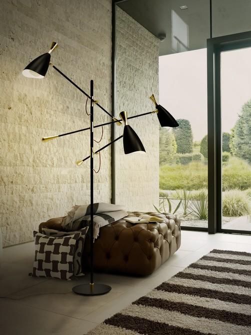 Extravagant floor lamps for your industrial bedroom
