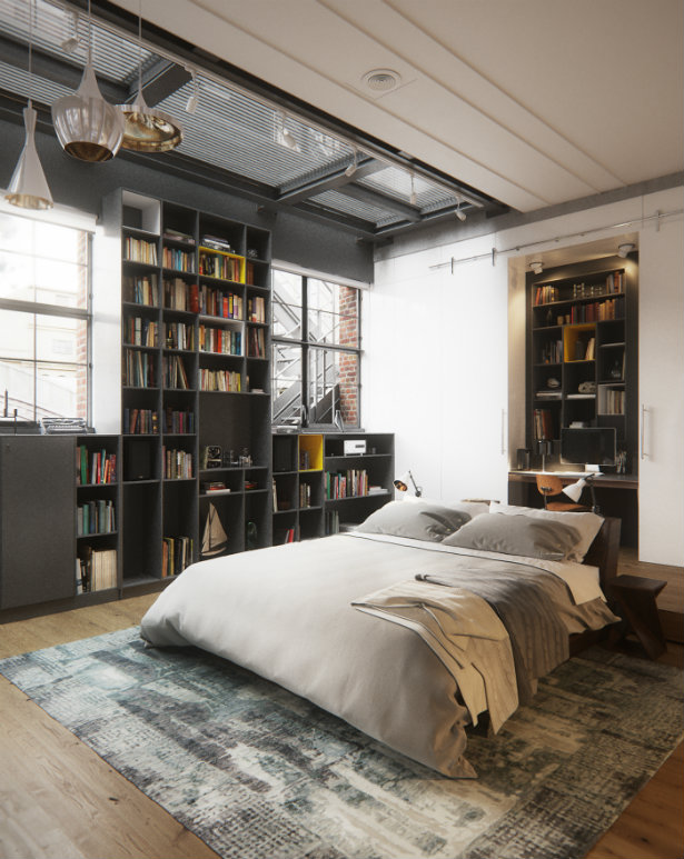 decor nyc new york style in the interior Bringing New York Loft Style into the Bedroom loft style Bringing New York  loft style into