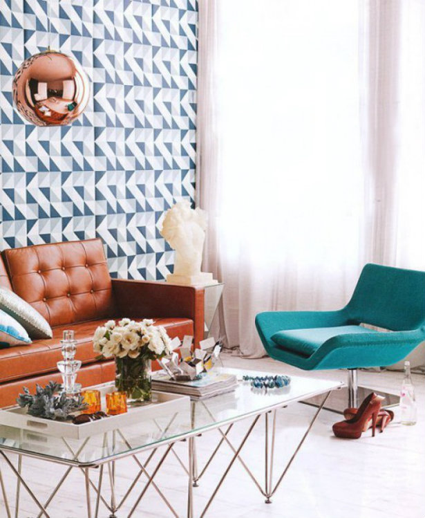 Luxury Interiors With Retro Finishes