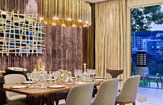 Luxury Interiors With Retro Finishes