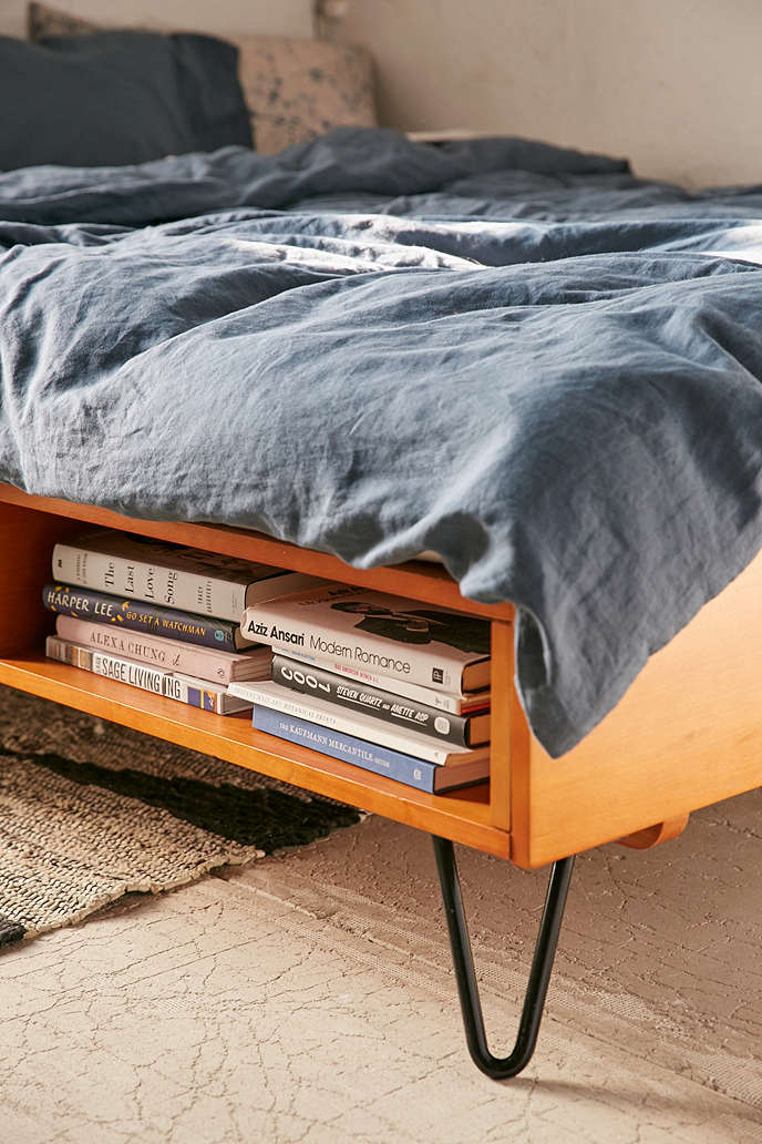 Charming mid-century-modern bed by Urban Outfitters Mid-century modern Charming mid-century modern bed by Urban Outfitters Charming mid century modern bed by Urban Outfitters2