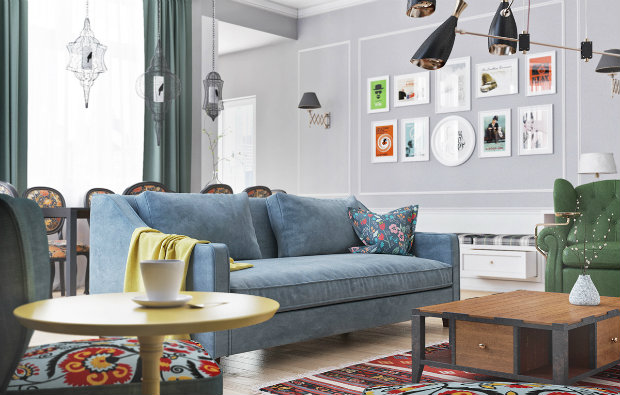 An English Style Living Room With A Scandinavian Atmosphere
