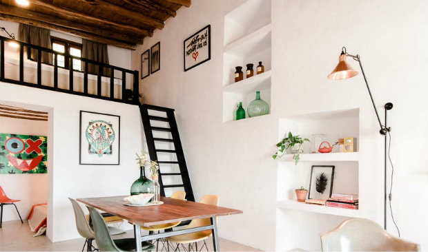 industrial cottage 200-Year-Old Stable Transformed Into Industrial Cottage in Ibiza 200 Year Old Stable Transformed Into Industrial Cottage in Ibiza FEAT