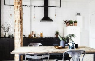 Dazzling New York Industrial Loft with Exposed Brick Walls FEAT
