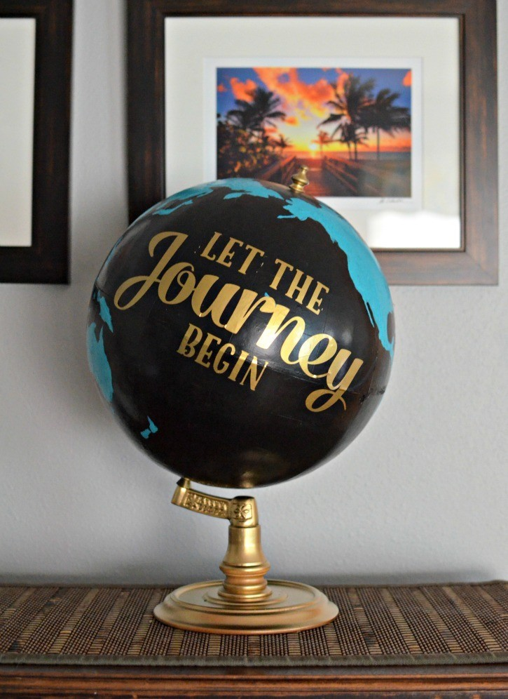 How to Display Vintage Globes Around Your House 4
