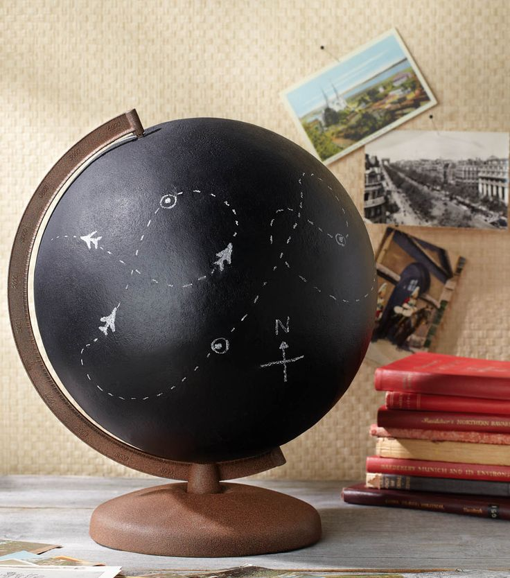 How to Display Vintage Globes Around Your House 5