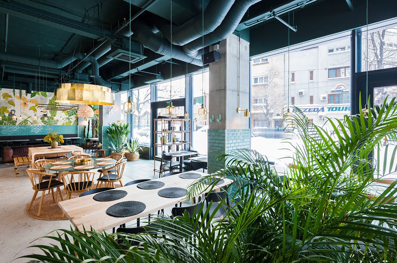 Industrial Style Restaurant with a Greenery-Themed Decor 1 industrial style restaurant Industrial Style Restaurant with a Greenery-Themed Decor Industrial Style Restaurant with a Greenery Themed Decor 2