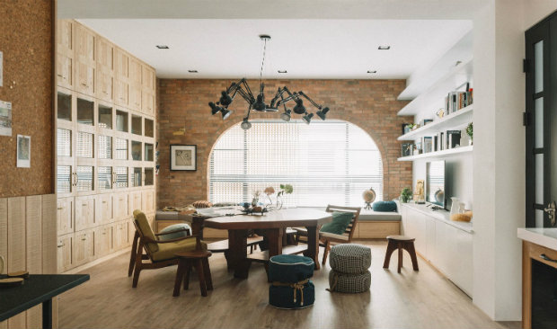 The Bridge Home Shines in Taiwan with Industrial Style Lighting 1111