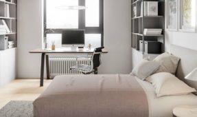Explore this astonishing apartment with mid century lighting