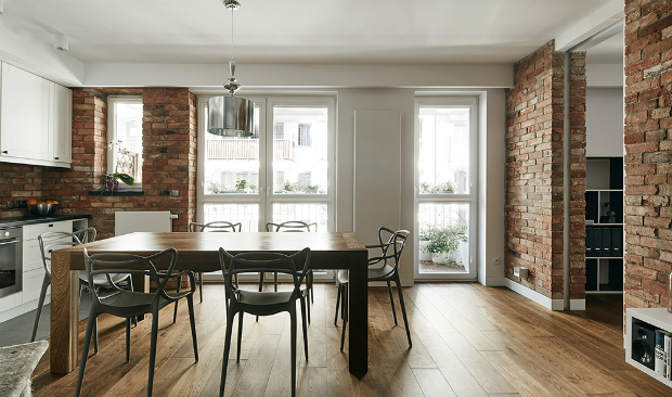 Exposed Brick Walls in Revamped Krakow Flat exposed brick walls Exposed Brick Walls in Revamped Krakow Flat Exposed Brick Walls in Revamped Krakow Flat