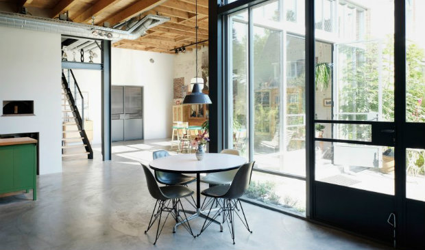 Former Potato Barns Transformed into Industrial Loft in Amsterdam