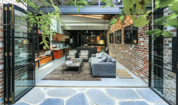 Garage Transformed Into Dazzling Industrial Loft