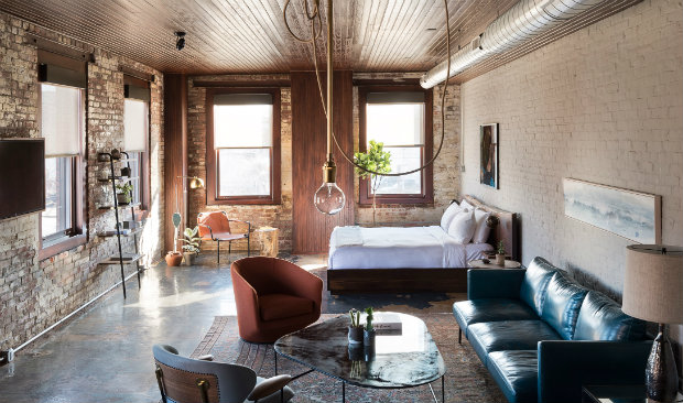 Shabby Chic Hotel With Exposed Brick Walls Amp Industrial