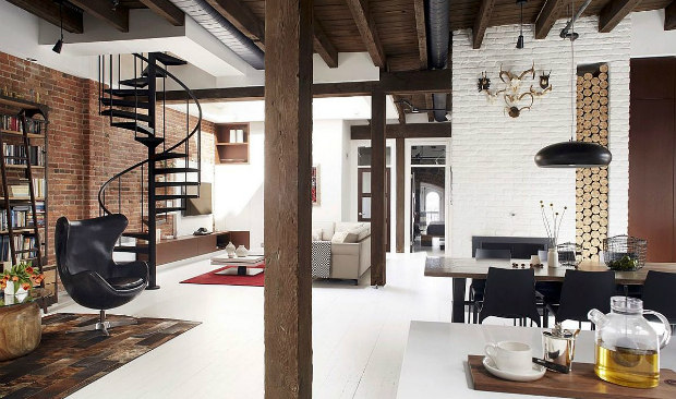 From a Fire Station to an Industrial Loft industrial loft From a Fire Station to an Industrial Loft From a Fire Station to an Industrial Loft
