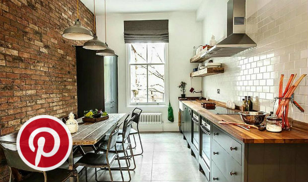 What's Hot on Pinterest 5 Industrial Style Kitchens 5
