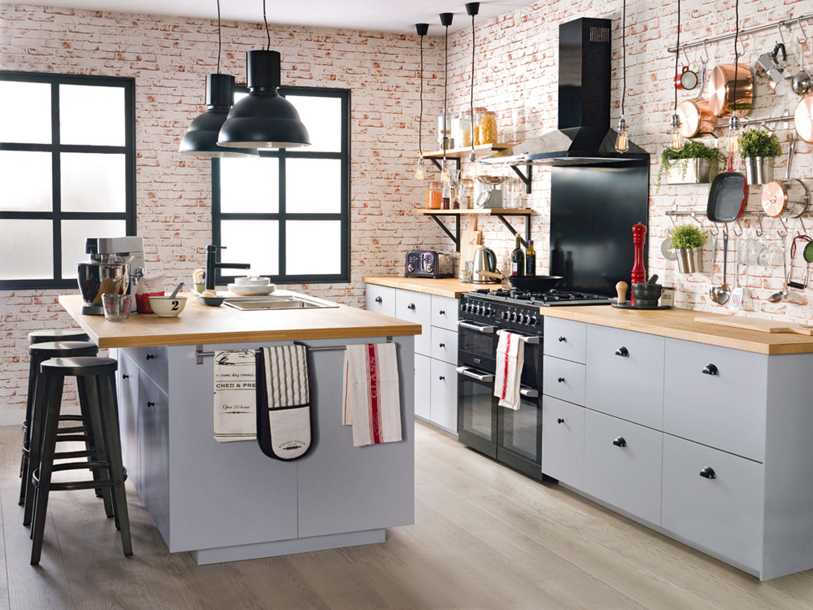 Captivating industrial kitchen concepts-5