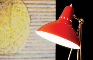 Unique red lamps for your living room-3