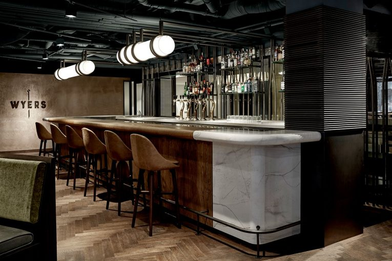 A Retro Caf 233 In Amsterdam Boasts A White Marble Bar And